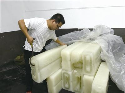 宁波日产上百吨冰块 汽车4S店和酒店需求量最大